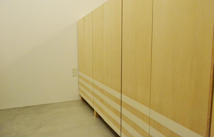 靴箱の納品。デザイン靴箱です。