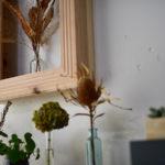 植物をアートに飾る、ナチュラルな木の額縁